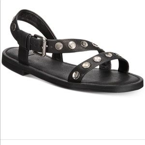 New Frye Morgan Black Sandals, size 8.5